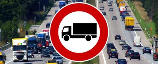 20.07-26.07.2019 zakaz ruchu dla ciężarówek.